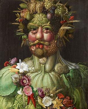 Rudolf II pictured as Vertumnus by Guiseppe Arcimboldo